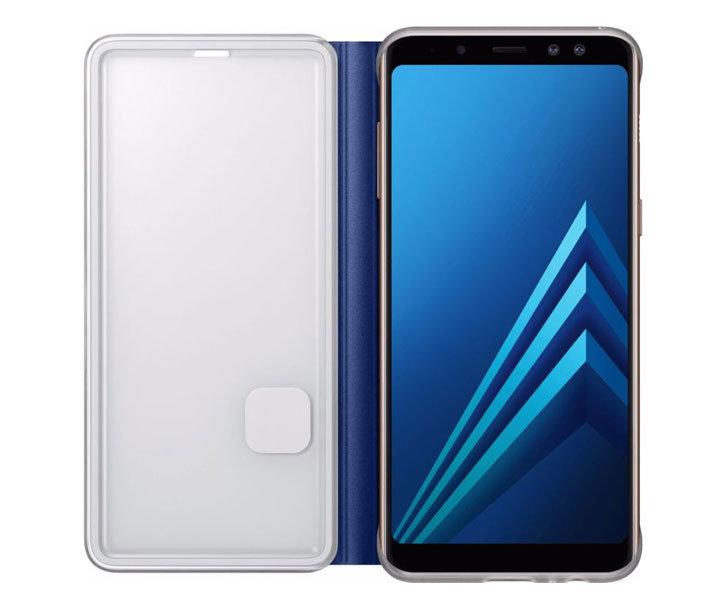 Neon Flip Case Officielle Samsung Galaxy A8 2018 - Bleue