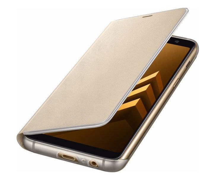 Neon Flip Case Officielle Samsung Galaxy A8 2018 - Or vue sur ports