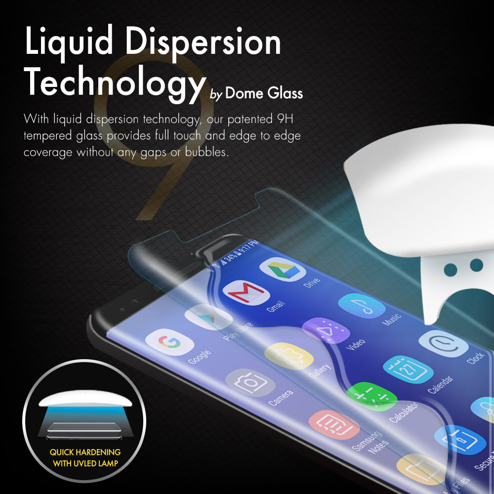 Whitestone Dome Glass Galaxy S9 Plus Full Cover Screen Protector