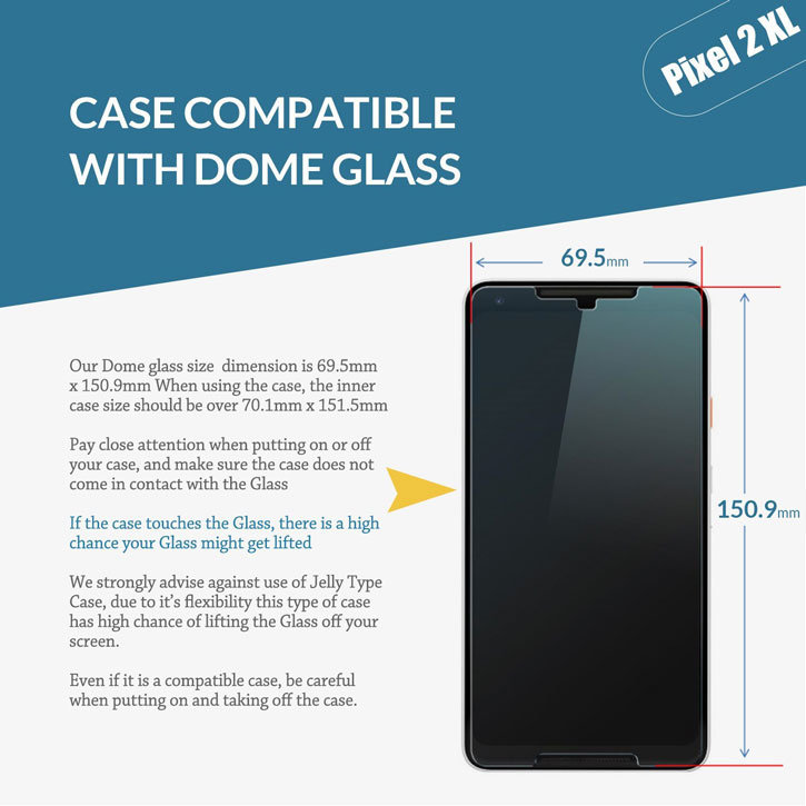 Whitestone Dome Glass Google Pixel 2 XL Full Cover Screen Protector