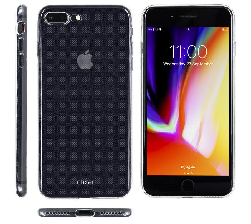iPhone 8 Plus Olixar Ultra-Thin Gel Case - Crystal Clear