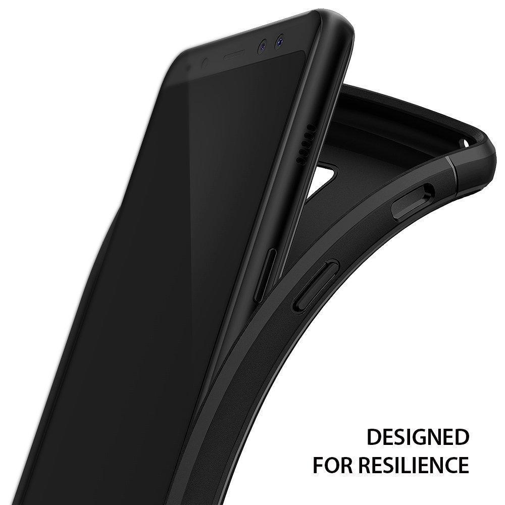 coque samsung galaxy a8 plus 2018 rearth ringke onyx noire. Black Bedroom Furniture Sets. Home Design Ideas