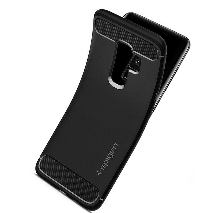 Spigen Rugged Armor Samsung Galaxy S9 Plus Tough Case - Black