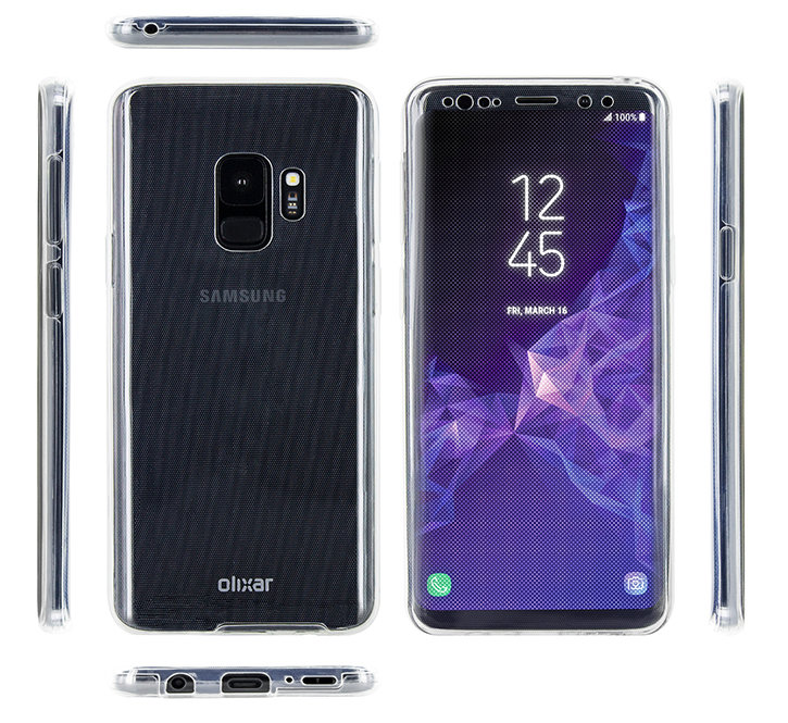 Olixar FlexiCover Complete Protection Samsung Galaxy S9 Case - Clear
