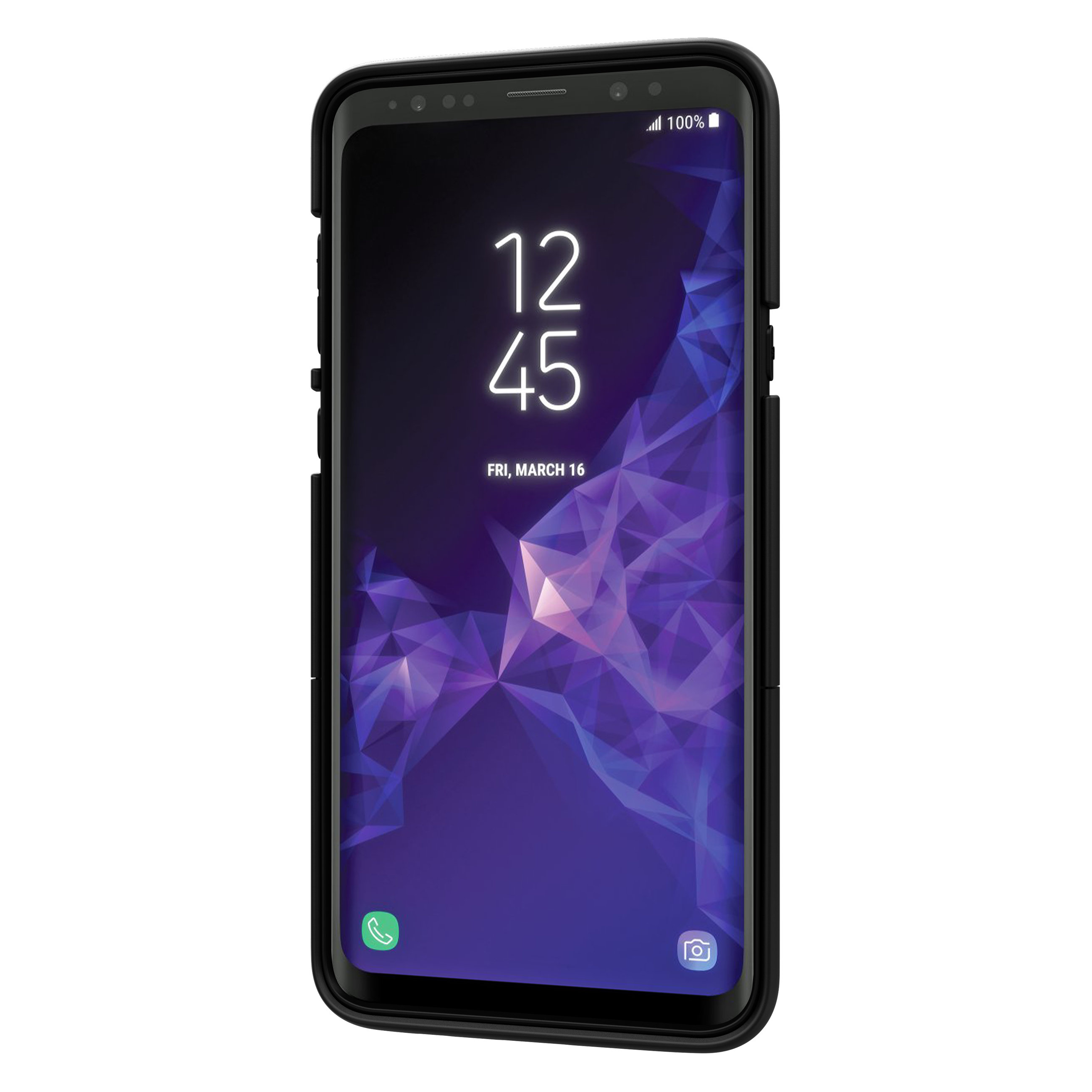 Seidio SURFACE Samsung Galaxy S9 Plus Case & Metal Kickstand - Black