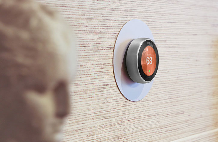 Elago Nest Thermostat Aluminium Wall Plate - Silver