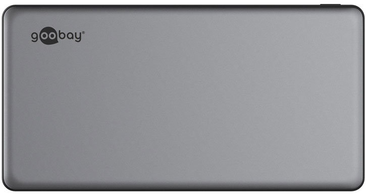 Goobay Quick Charge 3.0 USB-C 10,000 mAh Power Bank - Grey