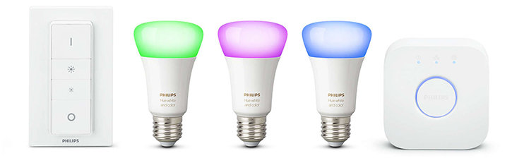 Official Phillips Hue White and Colour Wireless Starter Kit E27