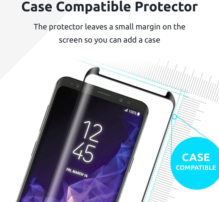 Olixar Galaxy S9 Plus EasyFit Case Compatible Glass Screen Protector