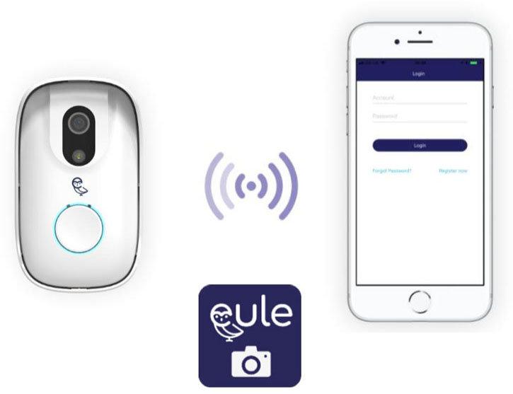 Eule Photo Doorbell - White