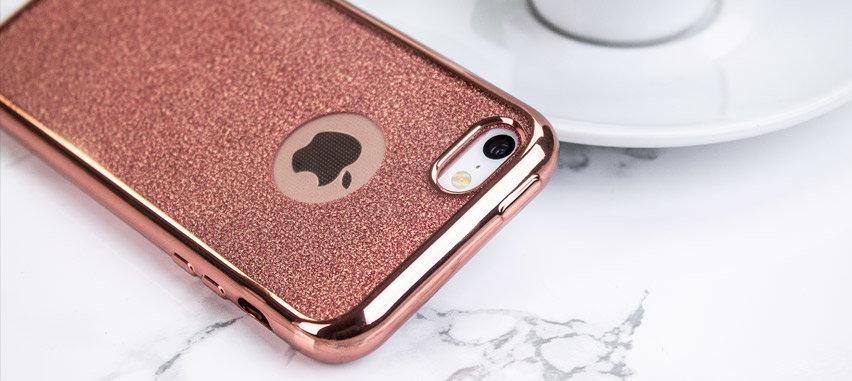 Rose Gold iPhone 5 Case - Glitter