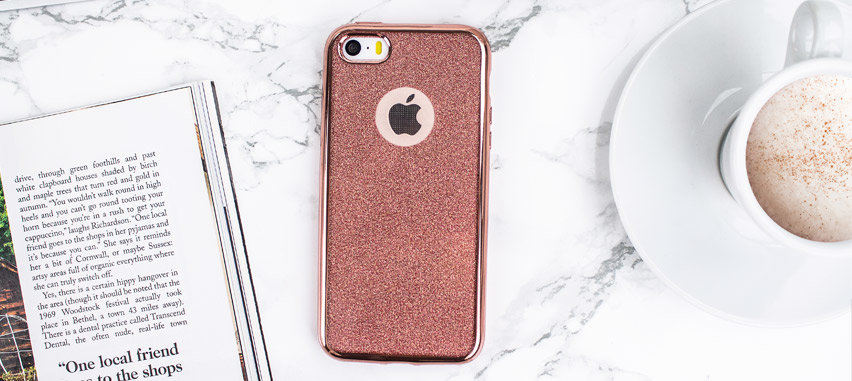 Rose Gold iPhone 5S Case - Glitter