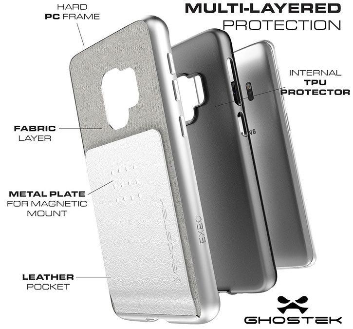 Ghostek Exec 2 Samsung Galaxy S9 Wallet Case - Black