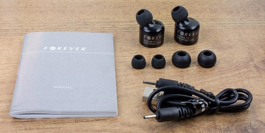 Forever True echte kabellose Ohrhörer TW100 - Schwarz