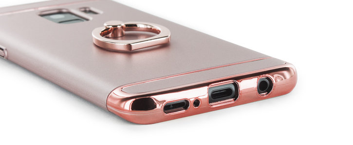 Olixar X-Ring Samsung Galaxy S9 Finger Loop Case - Rose Gold