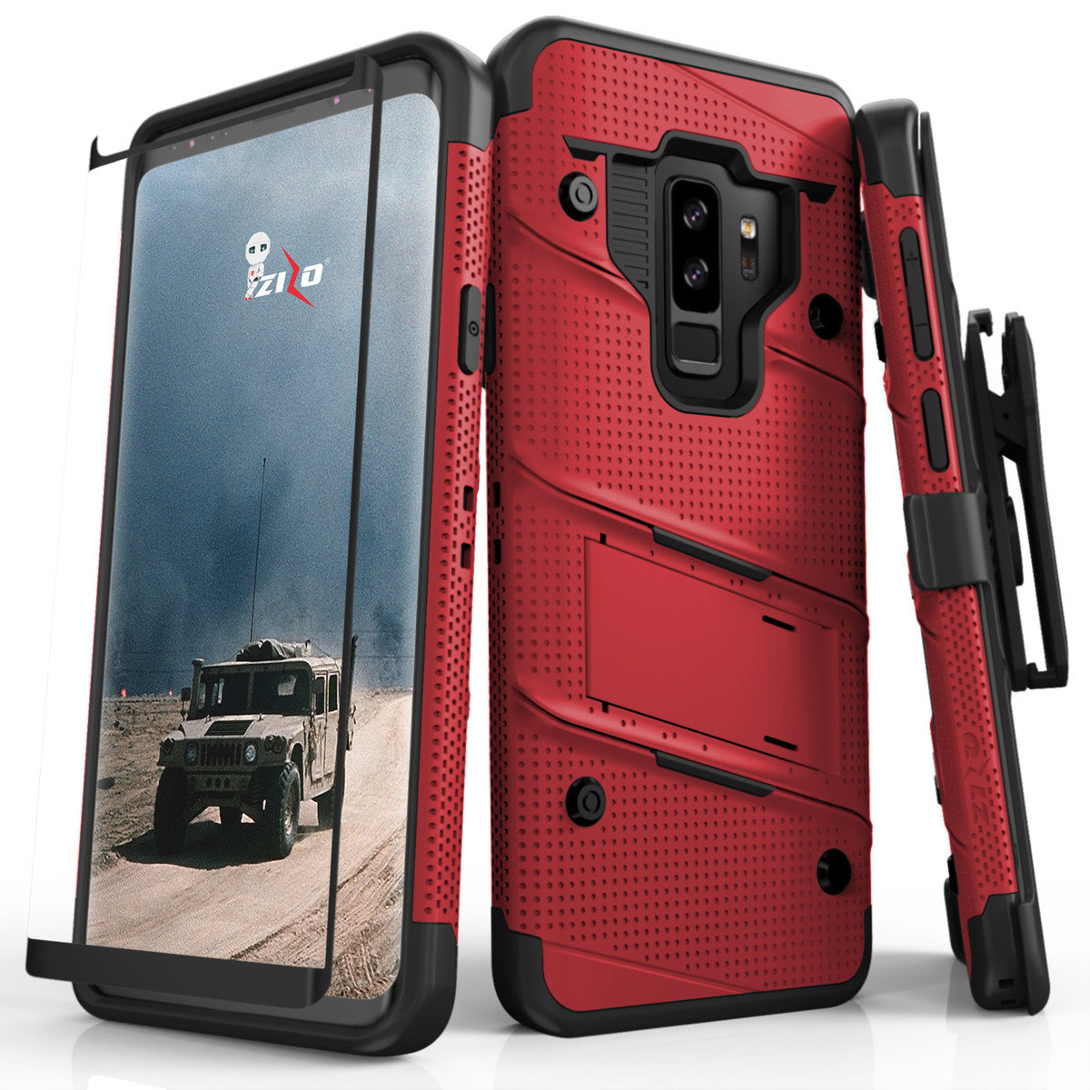 zizo bolt series samsung galaxy s9 plus tough case belt. Black Bedroom Furniture Sets. Home Design Ideas