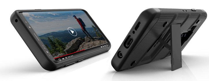 Zizo Bolt Series Samsung Galaxy S9 Tough Case & Belt Clip - Red