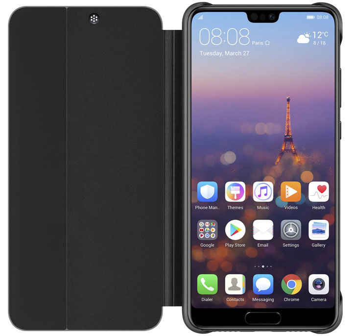 Official Huawei P20 Smart View Flip Case - Black
