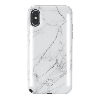 Lumee Duo Iphone X Double Sided Lighting Case White Marble