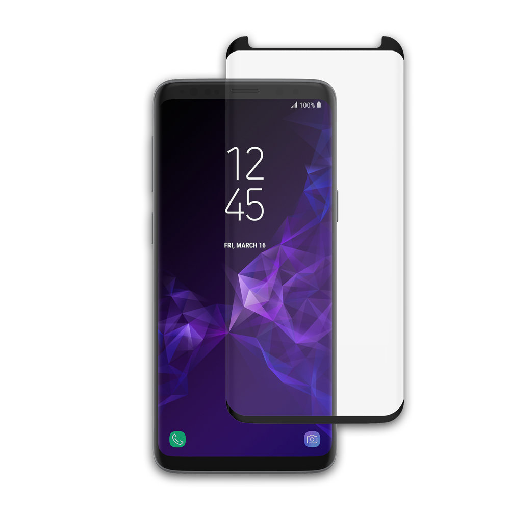 incipio samsung galaxy s9 plex shield edge glass screen protector. Black Bedroom Furniture Sets. Home Design Ideas