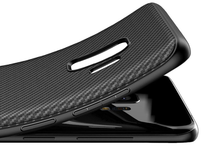 Olixar Carbon Fibre Samsung Galaxy S9 Case - Black