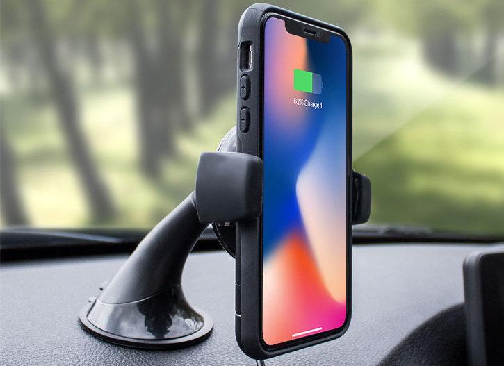 iPhone X Qi Wireless Charging Windscreen / Dash Car Holder
