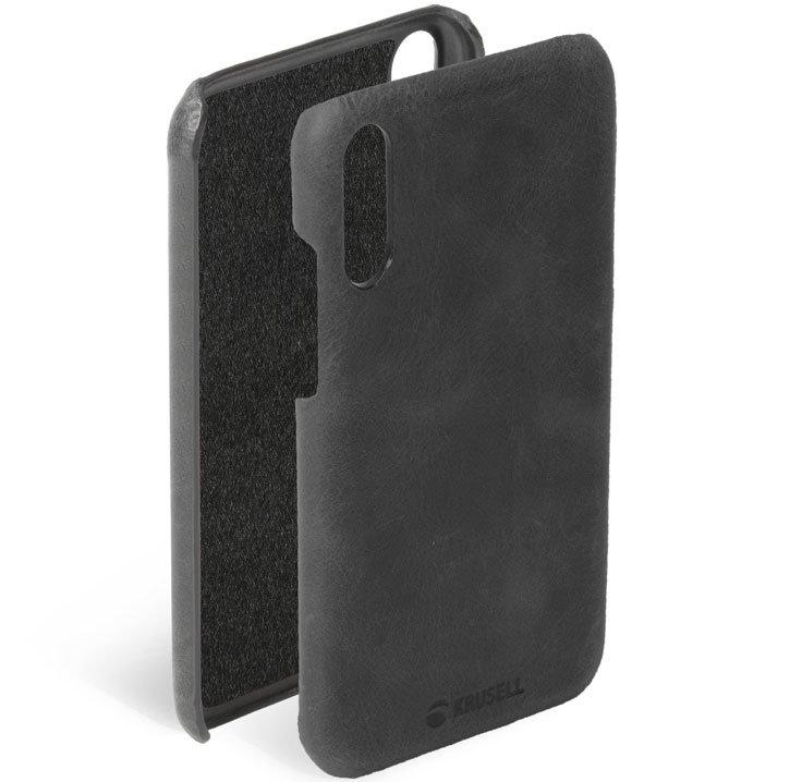 Krusell Sunne Huawei P20 Leather Case - Vintage Black