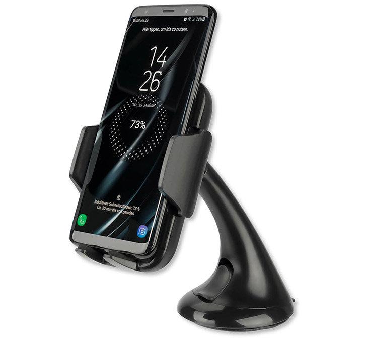 4smarts VoltBeam Grip Inductive Fast Charging Car Holder - Black