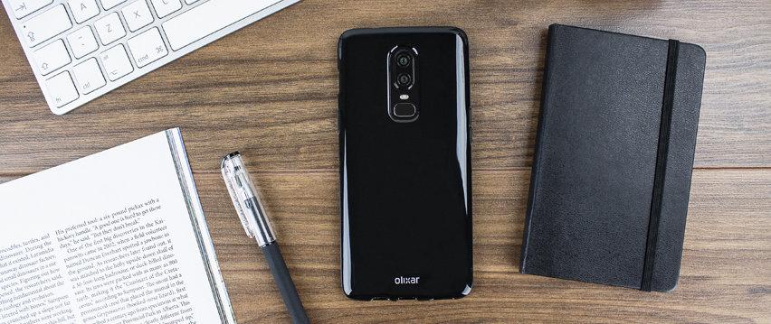 Olixar FlexiShield OnePlus 6 Gel Case - Solid Black