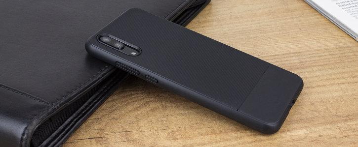Olixar Carbon Fibre Huawei P20 Case - Black