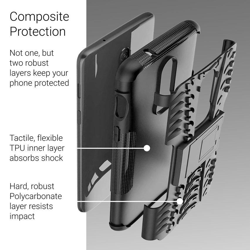 Olixar ArmourDillo OnePlus 6 Protective Case - Black
