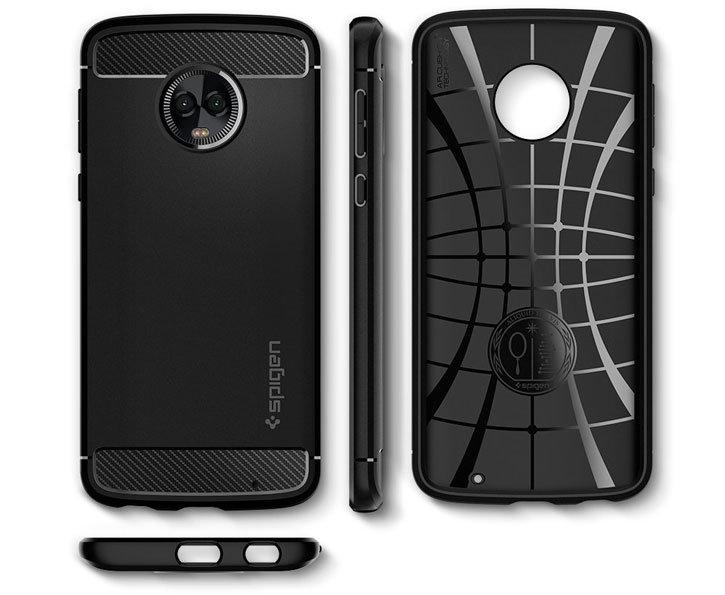 Spigen Rugged Armor Motorola Moto G6 Plus Tough Case - Black