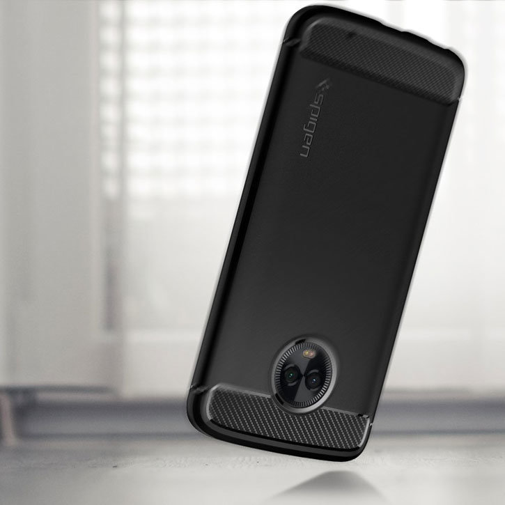 the best attitude 003f6 31740 Spigen Rugged Armor Motorola Moto G6 Plus Tough Case - Black