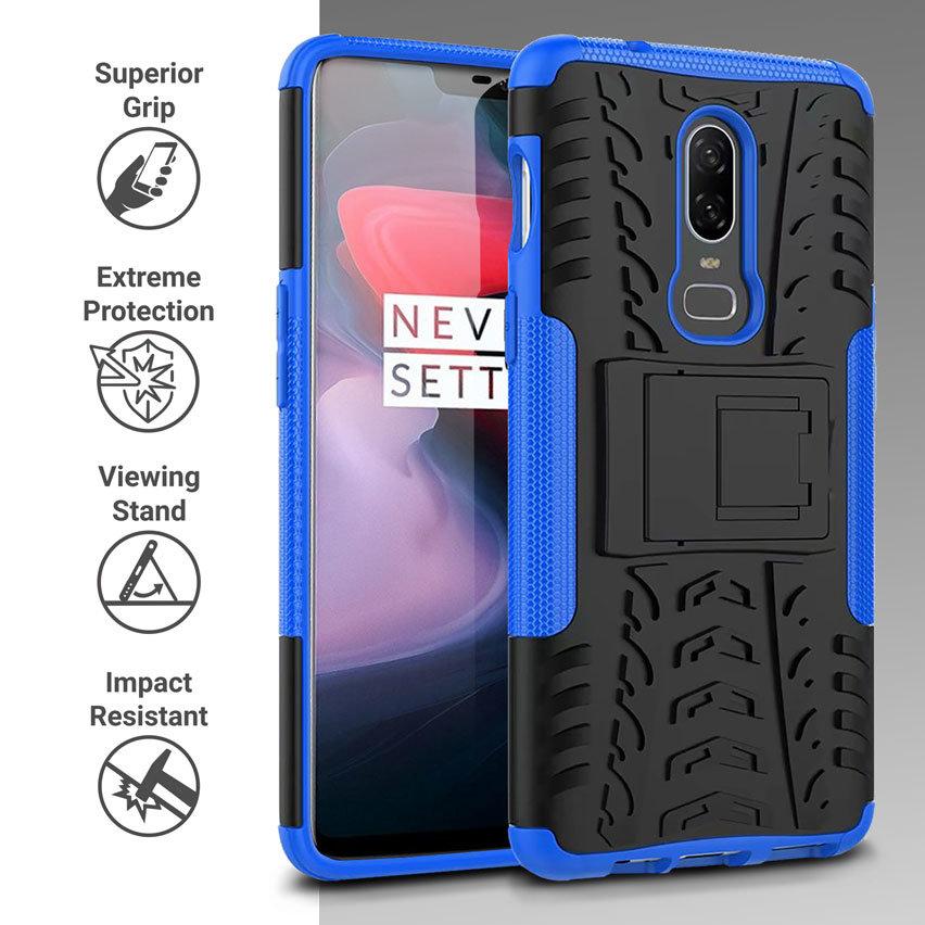 Olixar ArmourDillo OnePlus 6 Protective Case - Blue