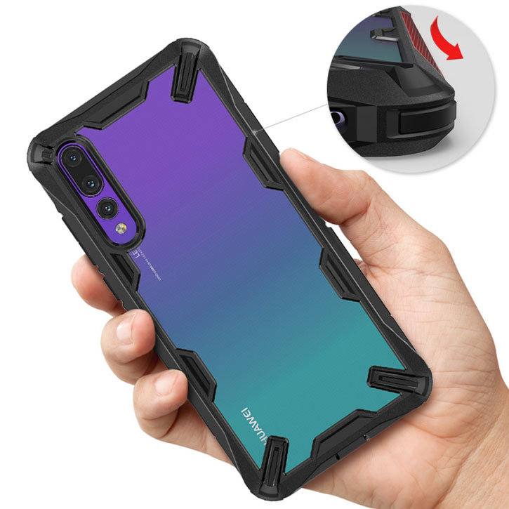 Rearth Ringke Fusion X Huawei P20 Pro Tough Case - Black