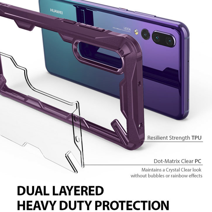 Rearth Ringke Fusion X Huawei P20 Pro Tough Case - Lilac Purple