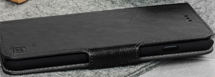Olixar Leather-Style Samsung Galaxy J6 Wallet Stand Case - Black