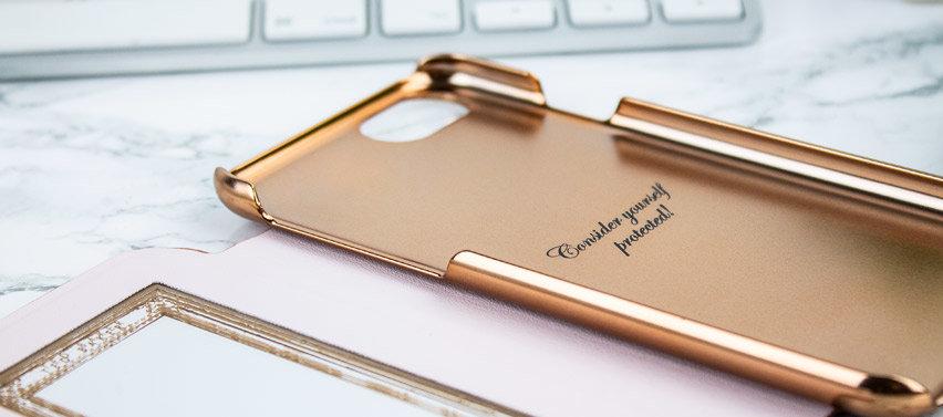 Ted Baker Glitsie iPhone 6 Mirror Folio Case - Rose Gold