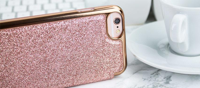 Ted Baker Glitsie iPhone 6S Mirror Folio Case - Rose Gold