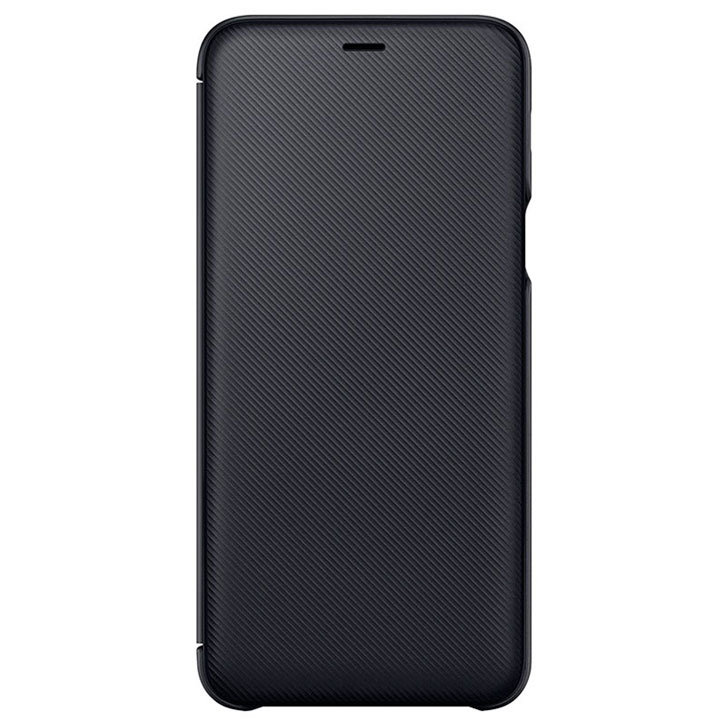 big sale 693b8 3e576 Official Samsung Galaxy A6 Plus 2018 Wallet Cover Case - Black