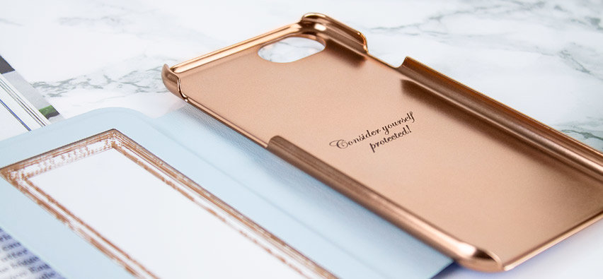 Ted Baker Bryony iPhone 8 Mirror Folio Case - Harmony Mineral