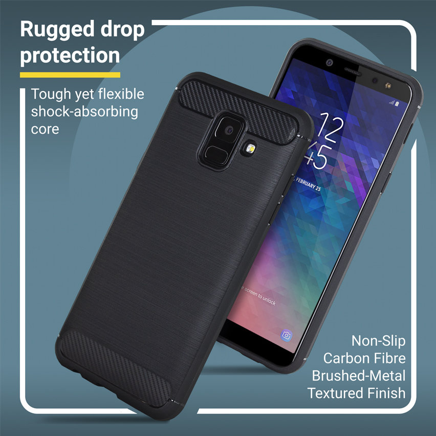 Olixar Sentinel Samsung Galaxy A6 2018 Case and Glass Screen Protector