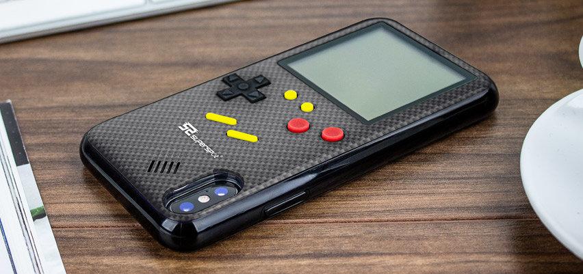SuperSpot iPhone X Retro Game Case - Carbon Black
