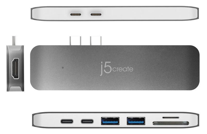 j5create USB-C Ultradrive MacBook Pro Hub - Space Grey