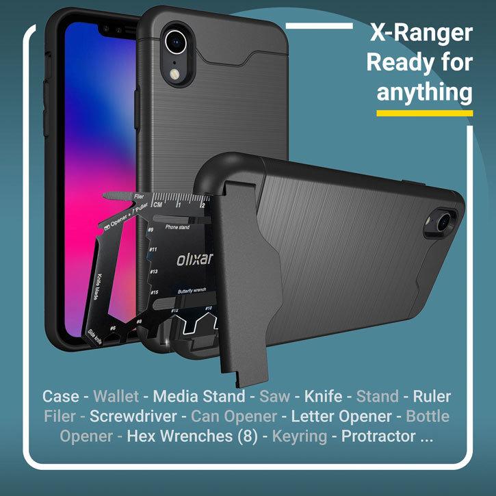 Olixar X-Ranger iPhone XS Plus Tough Case - Tactical Black
