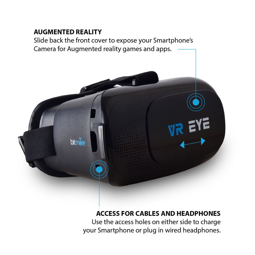 Bitmore VR Eye Virtual Reality Universal Headset With Controller