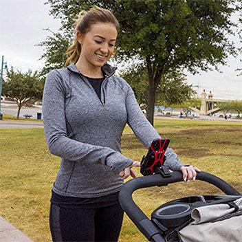 Adjustable Baby Stroller Mobile Phone Holder