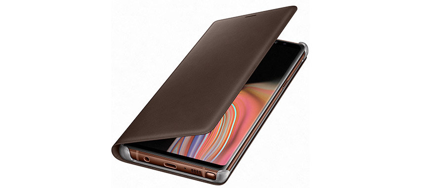 Official Samsung Galaxy Note 9 Leather View Cover Case - Brown