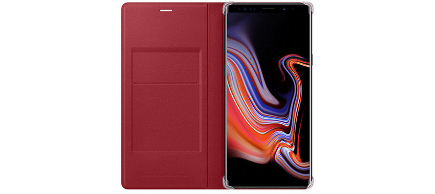 Official Samsung Galaxy Note 9 Leather View Cover Case - Red
