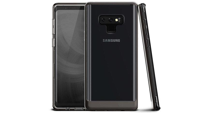 VRS Design Crystal Bumper Samsung Galaxy Note 9 Case - Metal Black